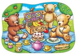 Orchard Toys Padlópuzzle Mackó piknik 15 db-os (226)