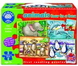 Orchard Toys Állatok 4 az 1-ben: 4-6-8 és 12 db-os (220)
