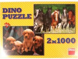 Dino Kutyák és lovak 2x1000 db-os