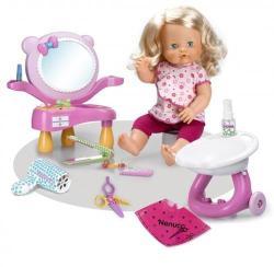 Nenuco Wash and Style Papusa cu Set Coafor