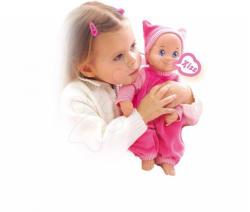 Smoby Baby MiniKiss Papusa Bebe in pijama roz 27cm
