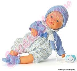 Falca Toys Papusa Baietel care plange in hainuta albastra 38cm (38315)