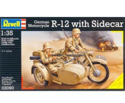 Revell German Motorcycle R-12 With sidecar (3090)