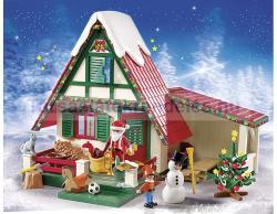 Playmobil Télapó a hófödte házikónál (5976)