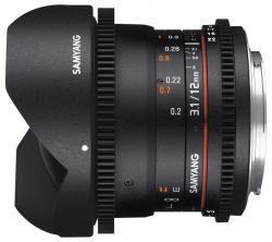 Samyang 12mm T3.1  VDSLR ED AS NCS Fish-eye (Canon)