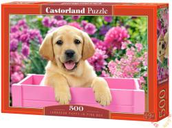 Castorland Labrador kölyök rózsaszín dobozban 500 db-os (52226)