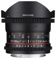Samyang 12mm T3.1 VDSLR ED AS NCS Fish-eye (Fujifilm)