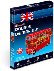 CubicFun 3D mini puzzle Double Decker busz 66 db-os (S3018)