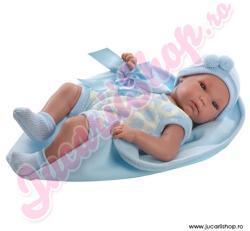 Llorens Bebelus nou nascut in hainute si patura albastra 35cm (63523)