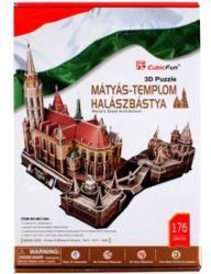 CubicFun 3D puzzle Mátyás-templom és Halászbástya 176 db-os (MC128H)