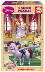 Educa Disney Szófia hercegnő 2x50 db-os fa puzzle