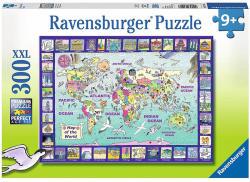 Ravensburger Rajzos világtérkép XXL puzzle 300 db-os (13190)