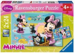 Ravensburger Disney Minnie Egér és cicája 2x24 db-os