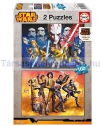 Educa Star Wars Rebels - Lázadók 2x100 db-os (16169)
