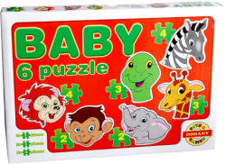 Dohány Baby Puzzle - Vadállatok arca 6 az 1-ben (635/5)