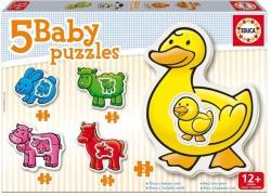 Educa Baby Puzzle Háziállatok 5 az 1-ben