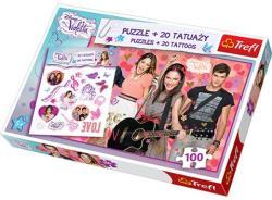 Trefl Disney Violetta és barátai 160 db-os puzzle+20 db tetoválás
