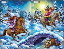 Larsen Midi Puzzle - Hercegnők lovon 18 db-os U9