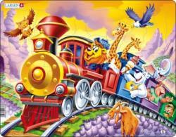 Larsen Maxi Puzzle Cirkuszi vonat 30 db-os US14