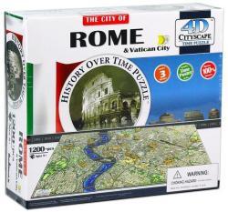 4D Cityscape 4D City Puzzle - Róma és Vatikán 1277 db-os