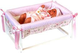 Llorens Csecsemő síró baba bölcsővel - 36 cm