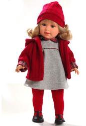 Llorens Martina baba szürke ruhácskában - 40 cm
