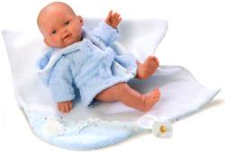 Llorens Csecsemő baba kék fürdőköntösben - 26 cm