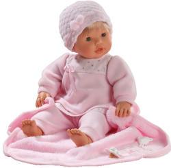 Llorens Nina síró lány baba rózsaszín takaróval - 48 cm