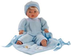 Llorens Nico síró fiú baba kék takaróval 48cm
