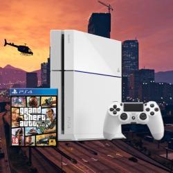 Sony PlayStation 4 Glacier White 500GB (PS4 Glacier White) + Grand Theft Auto V