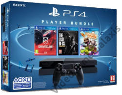 Sony PlayStation 4 Jet Black 500GB (PS4 500GB) + The Last of Us Remastered + Drive Club + Little Big Planet 3