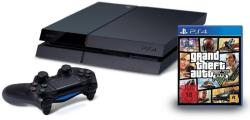 Sony PlayStation 4 Jet Black 500GB (PS4 500GB) + Grand Theft Auto V