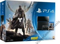 Sony PlayStation 4 Jet Black 500GB (PS4 500GB) + Destiny
