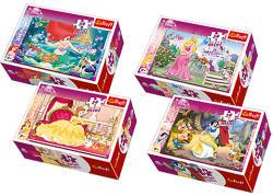 Trefl Mini Puzzle Disney Hercegnők 54 db-os (54105)