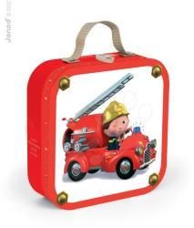 Janod 4 az 1-ben puzzle dobozban - Leon tűzoltóautója (02882)