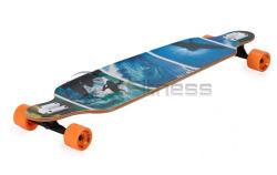 Spartan Longboard Drop Shape Surf Black (23323)