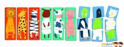 DJECO 1,2,3 Animo fa puzzle - Vidám állatok