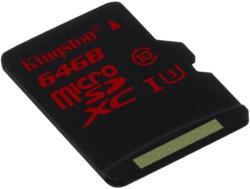 Kingston microSDXC 64GB Class 10 UHS-I U3 SDCA3/64GBSP
