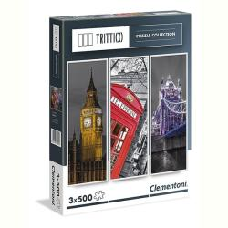 Clementoni Trittico - London 3 x 500 db-os (39306)
