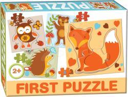 Dohány First Puzzle 4 az 1-ben - Erdei állatkák (639-5)