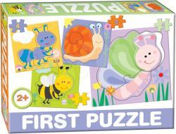 Dohány First Puzzle 4 az 1-ben - Rovarok (639-4)
