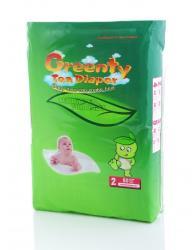 GREENTY Tea Diaper 0-6 kg - 60 buc