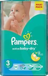 Pampers Active Baby-Dry 3 Midi (4-9 kg) Value Pack - 68 buc