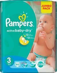 Pampers Active Baby 3 Midi (4-9 kg) Value Pack - 82 buc