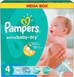 Pampers Active Baby-Dry 4 Maxi (7-14 kg) Mega Box - 132 buc