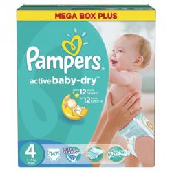 Pampers Active Baby-Dry 4 Maxi (7-14 kg) Mega Box - 147 buc