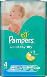Pampers Active Baby-Dry 4 Maxi (7-14 kg) Value Pack - 49 buc