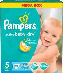Pampers Active Baby-Dry 5 Junior (11-18 kg) Mega Box - 111 buc