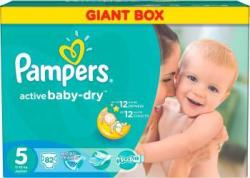 Pampers Active Baby 5 Junior (11-18 kg) Economy Box - 82 buc