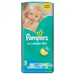 Pampers Active Baby-Dry 5 Junior (11-18 kg) Maxi Pack - 50 buc